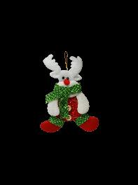 عروسک  آویز گوزن بافتنی کریسمس