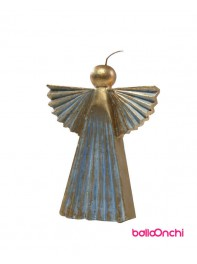 شمع فرشته آبی و طلایی