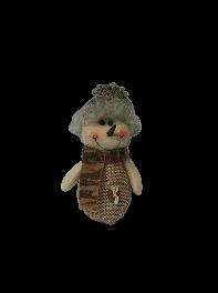 عروسک  آویز آدم برفی پولیشی کریسمس