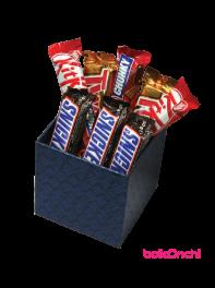 پکیج هدیه شکلات های خارجی جعبه چوبی مقوایی