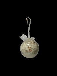 گوی تزئینی درخت کریسمس طرح درخت کریسمس سفید و خاکستری