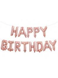 بادکنک فویلی Happy birthday رزگلد
