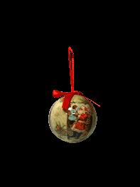 گوی تزئینی درخت کریسمس طرح بابانوئل