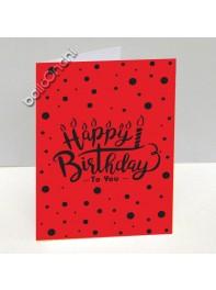 کارت تبریک تولد قرمز خال خالی