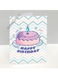 کارت تبریک تولد طرح کیک