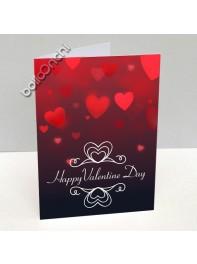 کارت پستال ولنتاین قرمز طرح قلب