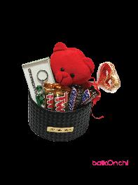 باکس هدیه خرس عروسکی، ست هدیه و شکلات 1