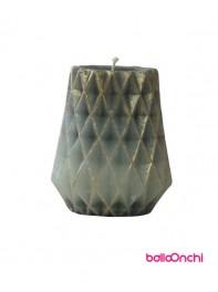 شمع طرح گلدانی نقره ای طلایی