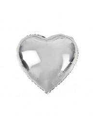 بادکنک قلب نقره ای فویلی هلیومی