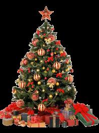 درخت کریسمس مصنوعی یک متری همراه با تزئینات کریسمسی