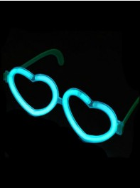 عینک شکل قلب شبرنگ یا شب تاب (black light) آبی