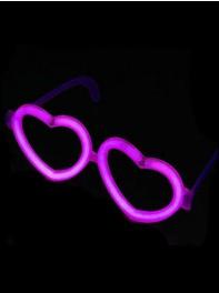 عینک شکل قلب شبرنگ یا شب تاب (black light) بنفش