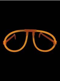 عینک ساده شبرنگ یا شب تاب (black light) نارنجی
