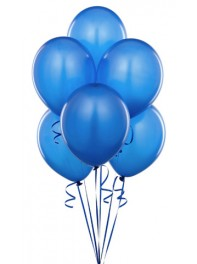 دسته بادکنک هدیه 6 تایی آبی لاتکس