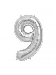 خرید بادکنک های فویلی عدد نه (9) انگلیسی در رنگ های طلایی، نقره ای،آبی، رزگلد ، مشکی، صورتی،تهران، سایز 40 و 80 سانتی متری
