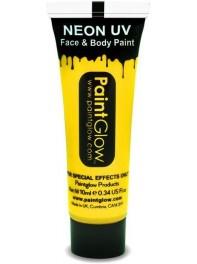 ژل رنگ آمیزی بدن و صورت شبرنگ یا شب تاب (black light) زرد