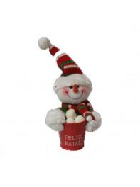 عروسک آویز آدم برفی سطل دار