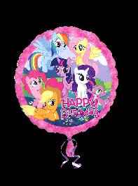 بادکنک فویلی تولدت مبارک (Happy Birthday) با طرح پونی کوچولو (Little Pony)
