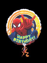 بادکنک فویلی طرح تولدت مبارک (Happy Birthday) مرد عنکوبتی، اسپایدرمن(spider man)