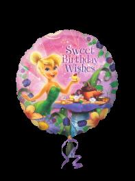 بادکنک فویلی تبریک تولد (Sweet Birthday Whisehs) کارتون پرهای دیزنی(Fairies)