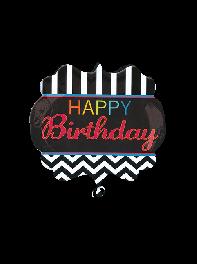 بادکنک فویلی تولدت مبارک انگلیسی (Happy Birthday) سایز بزرگ مردانه