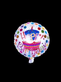 خرید بادکنک فویلی خال خالی تولدت مبارکHappy Birthday