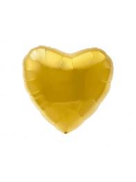 بادکنک قلب طلایی فویلی هلیومی