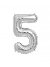 خرید بادکنک های فویلی عدد پنج (5) انگلیسی در رنگ های طلایی، نقره ای ،آبی،رزگلد، مشکی، صورتی در تهران،40 و 80 سانتی متری