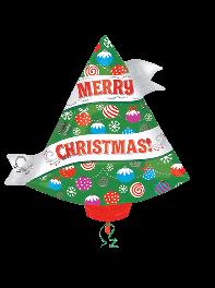 بادکنک درخت کاج کریسمس فویلی هلیومی (شکل دار