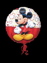 بادکنک فویلی میکی موس (Micky Mouse) ، سفید و قرمز.