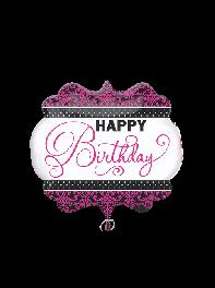 بادکنک فویلی تولدت مبارک انگلیسی (Happy Birthday) سایز بزرگ دخترانه