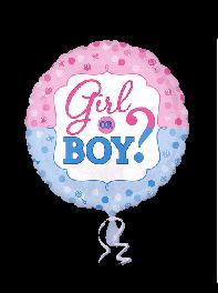 بادکنک فویلی طرح تعیین جنسیت (boy or girl)