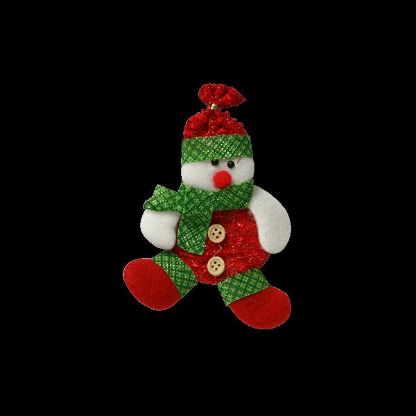 عروسک  آویز آدم برفی بافتنی کریسمس