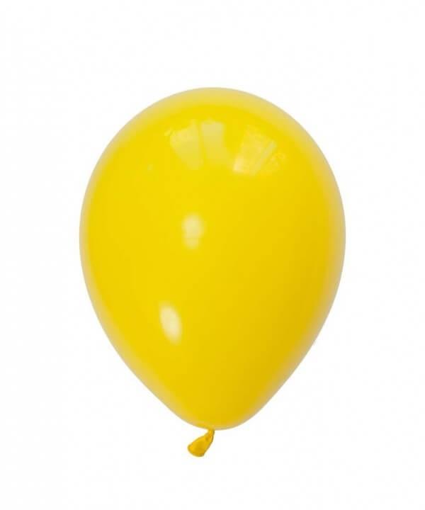 بادکنک لاتکس زرد مات