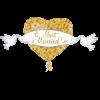 بادکنک تبریک ازدواج فویلی هلیومی