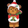 بادکنک عرس با لباس بابانوئل هلیومی فویلی