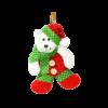 عروسک آوریزبافتنی خرس کریسمس