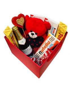 جعبه مستطیلی شکلاتی هدیه روز زن