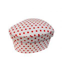 جعبه کادویی سفید خال قرمز