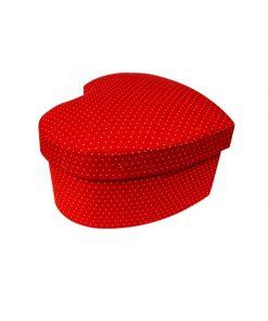 جعبه قرمز خال سفید ریز