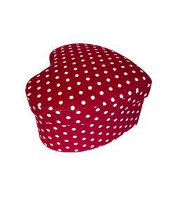 جعبه کادویی قرمز خال سفید