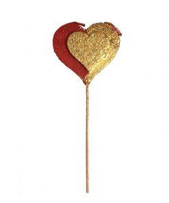 شمع قلبی طلایی مدل تاپر