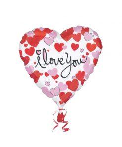 بادکنک قلبی رنگی طرح دوستت دارم هلیومی