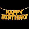 بادکنک فویلیhappy birthday طلایی