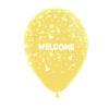 بادکنک زرد طرح خوشامدگویی هلیومی