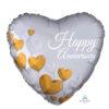 بادکنک فویلی قلبی سالگرد هلیومی