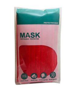 ماسک 3لایه پرستاری قرمز