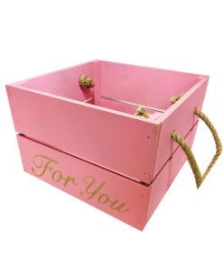 جعبه چوبی صورتی